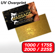 Business Cards Spot UV<br>16pts. + Laminated